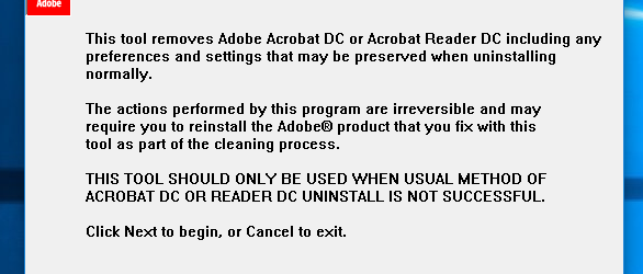 Acrobat Reader Removal Tool
