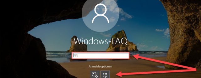 Windows 10 PIN and login options
