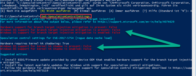 Meltdown Specter PowerShell