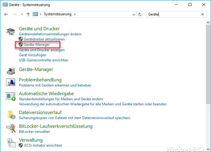Control Panel Device Manager Windows