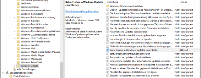 Group Policy Prevent Windows Driver Updates
