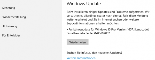 Windows 10 function update 0x80d02002