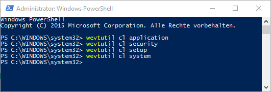 Eventlog Powershell delete