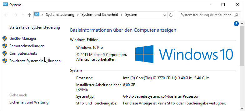 Windows 10 system version number edition