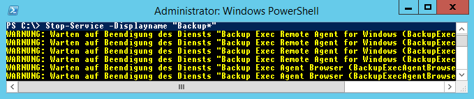 PowerShell stop service