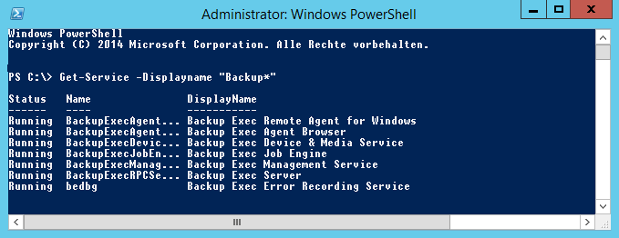 PowerShell get service
