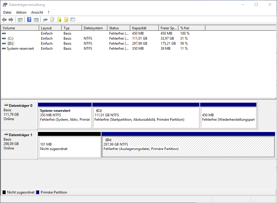 Disk Management Reduce Windows 10 Partition