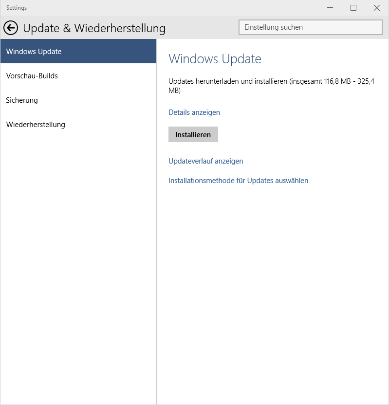 Windows 10 updates found