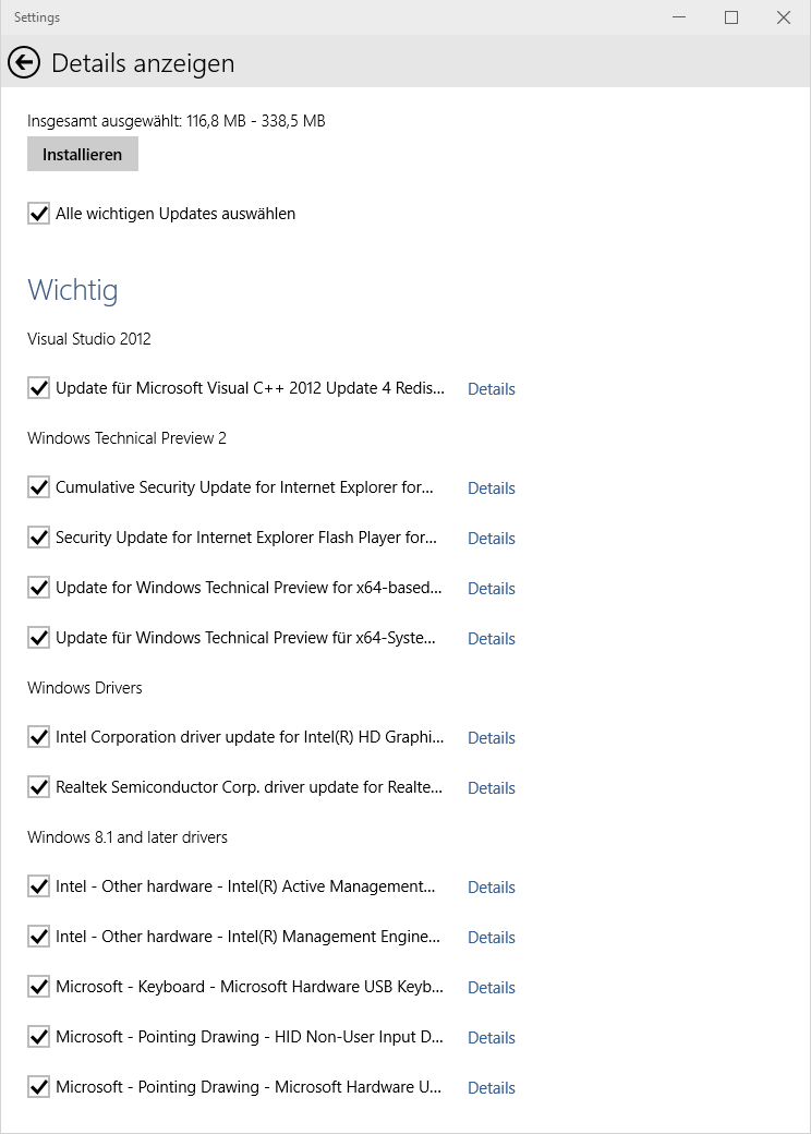 Install Windows 10 updates